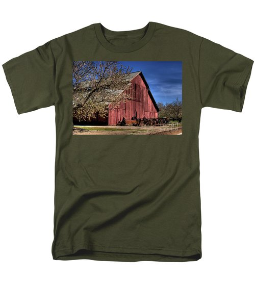 Men's T-Shirt  (Regular Fit) featuring the photograph Red Barn by Jim and Emily Bush