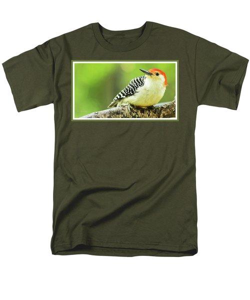 Red Bellied Woodpecker, Male, Animal Portrait Men's T-Shirt  (Regular Fit) by A Gurmankin
