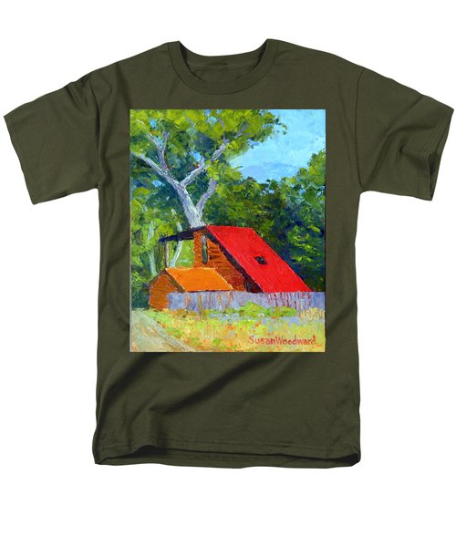 Red Roof Men's T-Shirt  (Regular Fit) by Susan Woodward