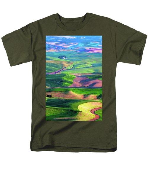 Green Hills Of The Palouse Men's T-Shirt  (Regular Fit) by James Hammond