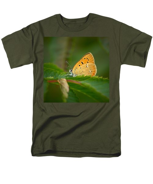 Men's T-Shirt  (Regular Fit) featuring the photograph Scarce Copper by Jouko Lehto