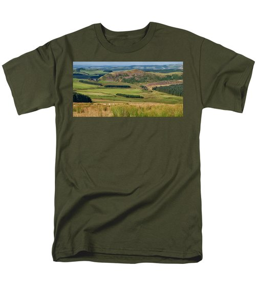 Scotland View From The English Borders Men's T-Shirt  (Regular Fit) by Jeremy Lavender Photography