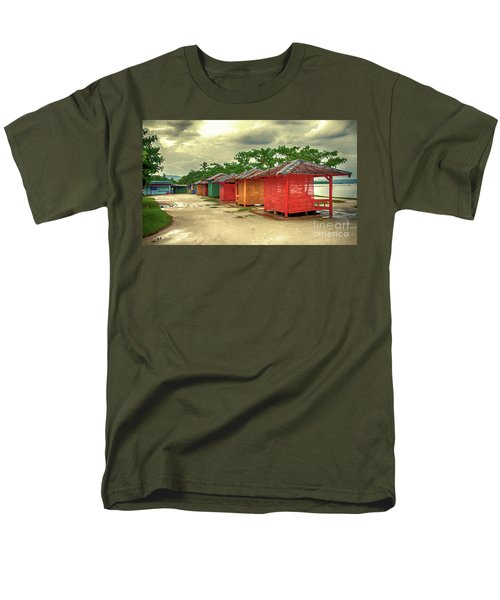 Men's T-Shirt  (Regular Fit) featuring the photograph Shacks by Charuhas Images