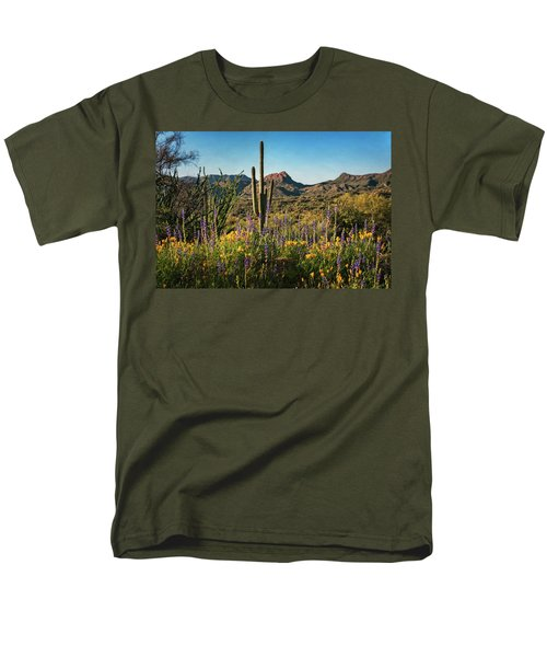 Men's T-Shirt  (Regular Fit) featuring the photograph Spring In The Sonoran  by Saija Lehtonen