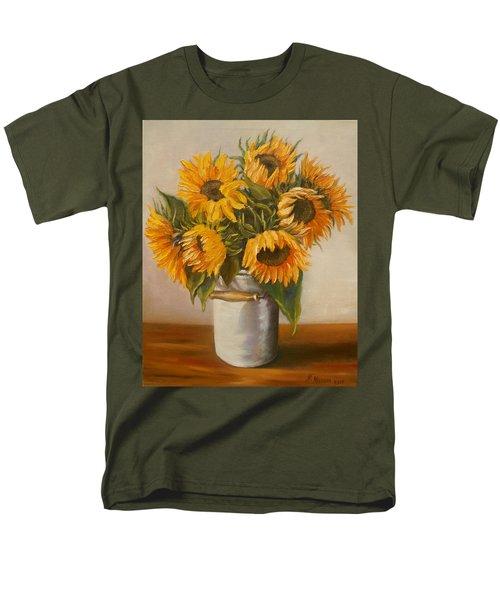 Sunflowers Men's T-Shirt  (Regular Fit) by Nina Mitkova