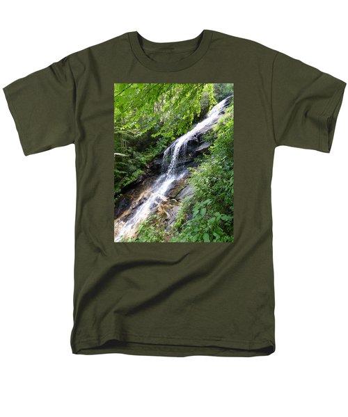 Men's T-Shirt  (Regular Fit) featuring the photograph Sunlit Cascade by Joel Deutsch