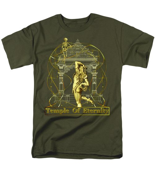 Men's T-Shirt  (Regular Fit) featuring the digital art Temple Of Eternity by Robert G Kernodle