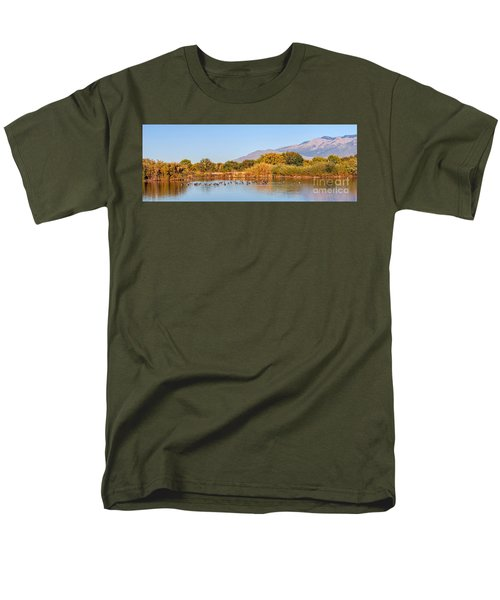 Men's T-Shirt  (Regular Fit) featuring the photograph The Bosque by Gina Savage