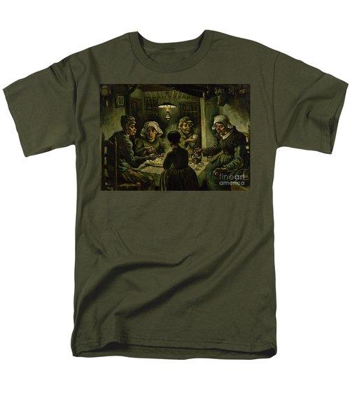 The Potato Eaters, 1885 Men's T-Shirt  (Regular Fit) by Vincent Van Gogh