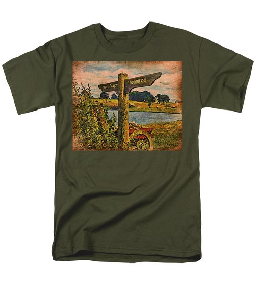 Men's T-Shirt  (Regular Fit) featuring the digital art The Road To Hobbiton by Kathy Kelly