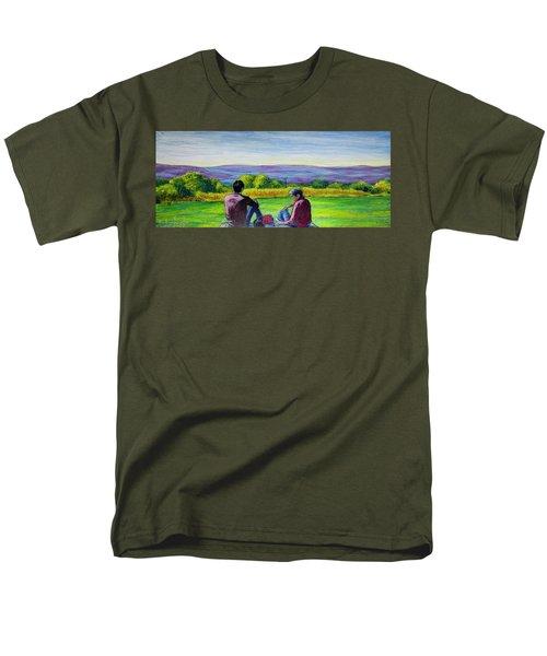The View Men's T-Shirt  (Regular Fit) by Ron Richard Baviello