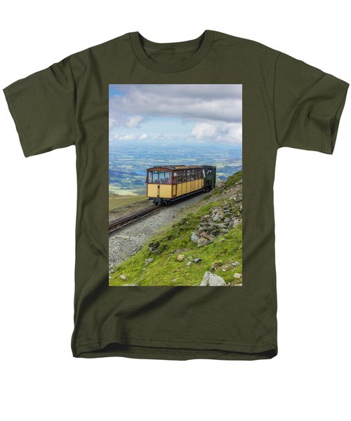 Men's T-Shirt  (Regular Fit) featuring the photograph Train To Snowdon by Ian Mitchell
