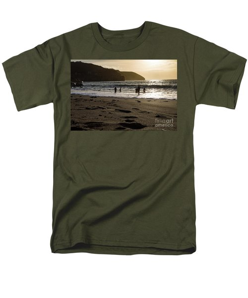 Men's T-Shirt  (Regular Fit) featuring the photograph Photographs Of Cornwall Trevellas Cove Cornwall by Brian Roscorla
