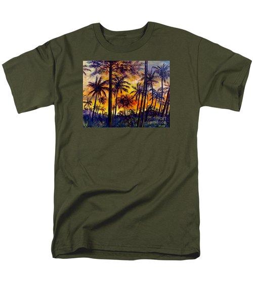 Tropical Sunset Men's T-Shirt  (Regular Fit) by Lou Ann Bagnall