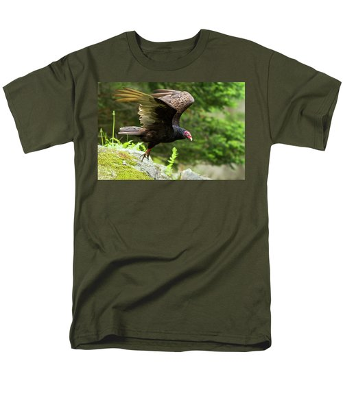 Men's T-Shirt  (Regular Fit) featuring the photograph Turkey Vulture by Mircea Costina Photography