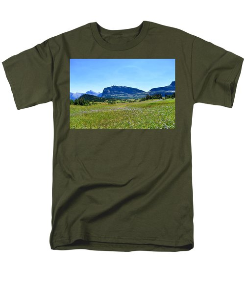 Men's T-Shirt  (Regular Fit) featuring the photograph View From Logans Pass by Dacia Doroff