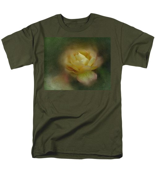 Vintage October Rose  Men's T-Shirt  (Regular Fit) by Richard Cummings