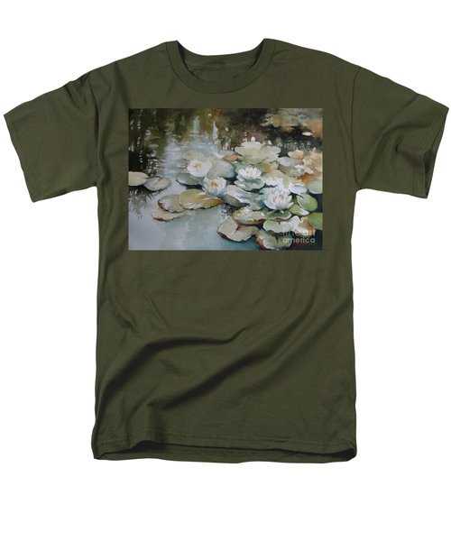 Men's T-Shirt  (Regular Fit) featuring the painting Waterlilies by Elena Oleniuc