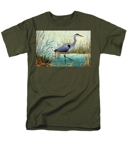 Men's T-Shirt  (Regular Fit) featuring the painting Wetland Beauty by James Williamson