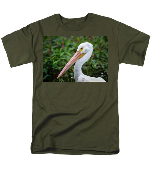 Men's T-Shirt  (Regular Fit) featuring the photograph White Pelican by Robert Frederick