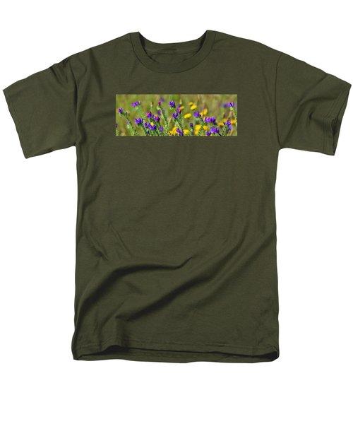 Men's T-Shirt  (Regular Fit) featuring the photograph wild Flowers by Werner Lehmann