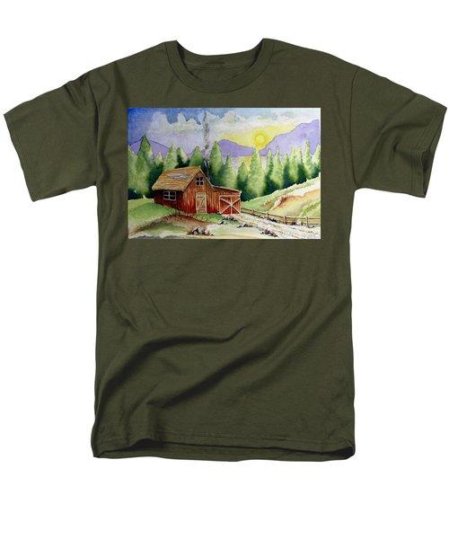 Wilderness Cabin Men's T-Shirt  (Regular Fit) by Jimmy Smith