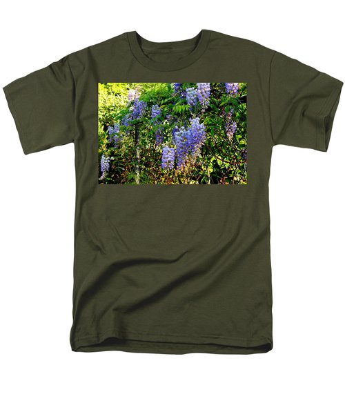 Wisteria Men's T-Shirt  (Regular Fit) by Betty-Anne McDonald