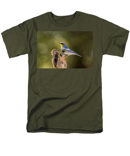 Yellow-rumped Warbler Men's T-Shirt  (Regular Fit) by Tam Ryan