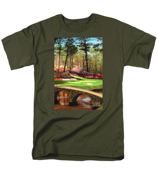 12th Hole At Augusta Ver Men's T-Shirt  (Regular Fit) by Tim Gilliland