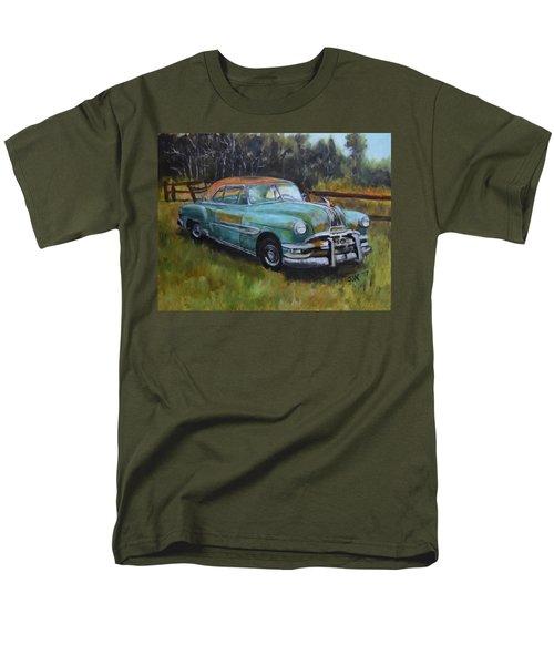 Men's T-Shirt  (Regular Fit) featuring the painting 1952 Pontiac Chieftain  by Sandra Nardone