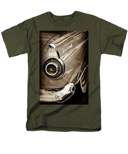 Men's T-Shirt  (Regular Fit) featuring the photograph 1956 Ford Thunderbird Taillight Emblem -0382s by Jill Reger