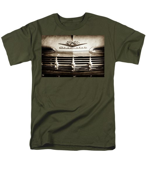 Men's T-Shirt  (Regular Fit) featuring the photograph 1959 Chevrolet Impala Grille Emblem -1014s by Jill Reger