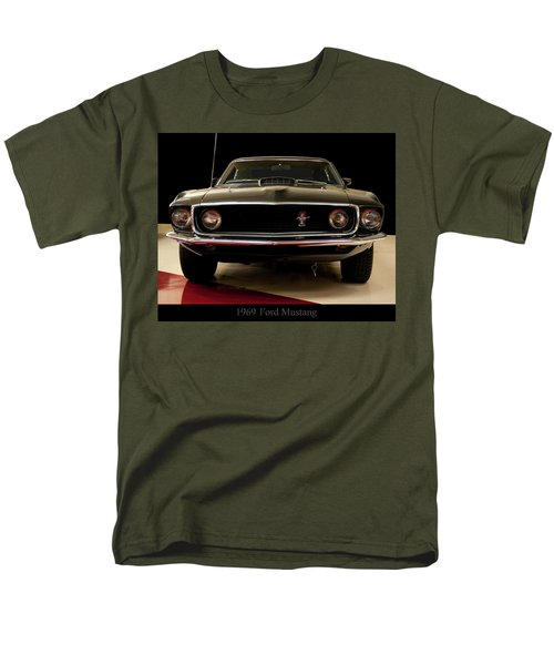 Men's T-Shirt  (Regular Fit) featuring the digital art 1969 Ford Mustang by Chris Flees