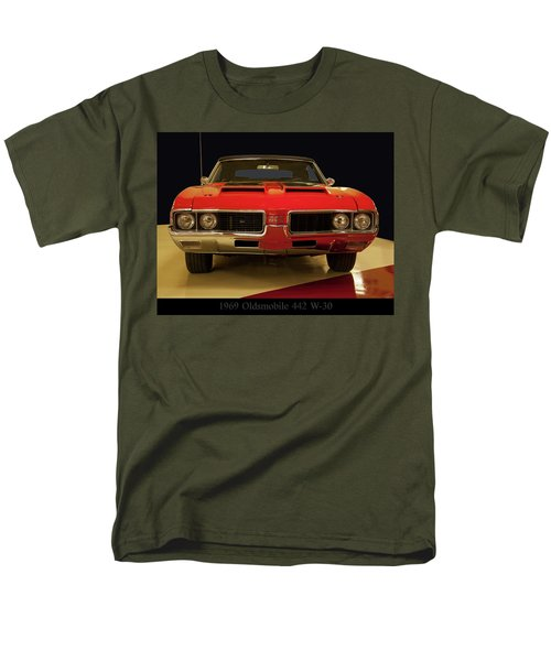 Men's T-Shirt  (Regular Fit) featuring the photograph 1969 Oldsmobile 442 W-30 by Chris Flees
