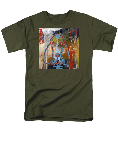 Men's T-Shirt  (Regular Fit) featuring the painting Basset Hound  by Leanne WILKES