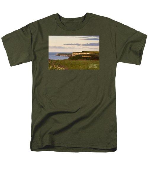 Bempton Cliffs Men's T-Shirt  (Regular Fit) by David  Hollingworth