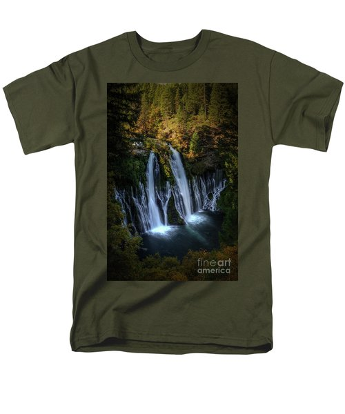Men's T-Shirt  (Regular Fit) featuring the photograph Burney Falls by Kelly Wade