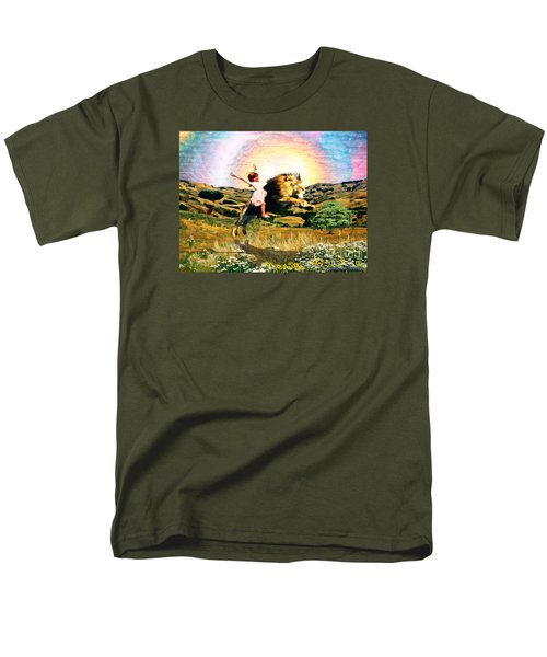 Men's T-Shirt  (Regular Fit) featuring the digital art Child Like Faith by Dolores Develde
