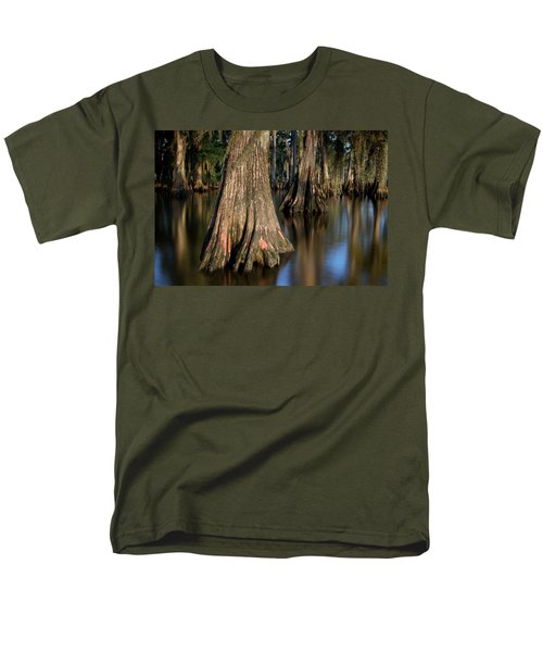 Men's T-Shirt  (Regular Fit) featuring the photograph Cypress Trees by Evgeny Vasenev
