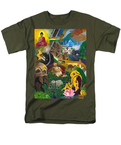 Discover India Men's T-Shirt  (Regular Fit) by Alika Kumar