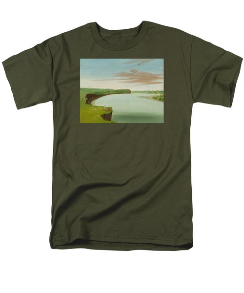 Distant View Of The Mandan Village Men's T-Shirt  (Regular Fit) by George Catlin