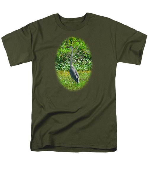 Great Blue Heron Men's T-Shirt  (Regular Fit) by Deborah Good