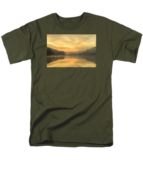 Misty Morning On The Lake Men's T-Shirt  (Regular Fit) by Thomas R Fletcher