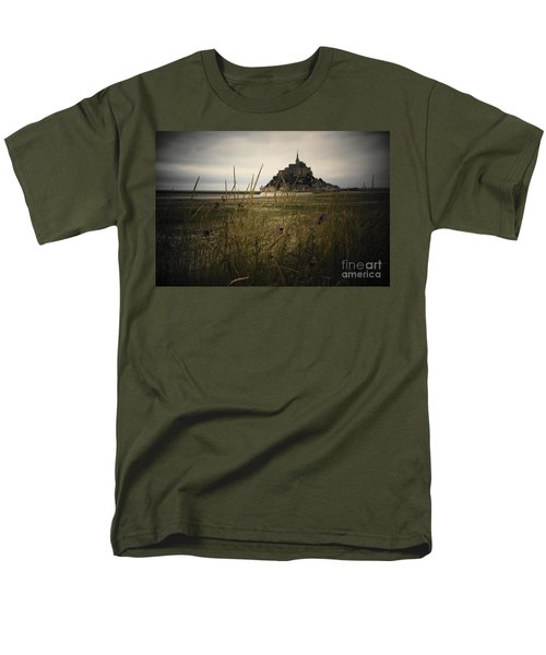 Mont St Michel Men's T-Shirt  (Regular Fit) by Therese Alcorn