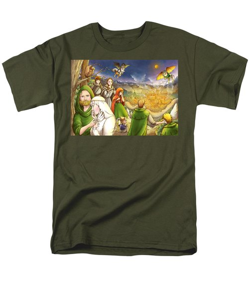 Robin Hood And Matilda Men's T-Shirt  (Regular Fit) by Reynold Jay