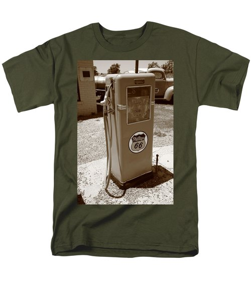 Route 66 Gas Pump Men's T-Shirt  (Regular Fit) by Frank Romeo