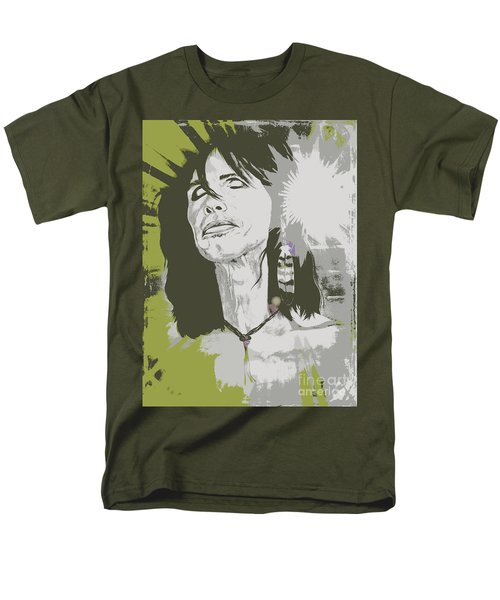 Men's T-Shirt  (Regular Fit) featuring the painting Steven Tyler  by Jeepee Aero