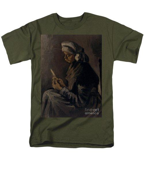 The Potato Peeler, 1885 Men's T-Shirt  (Regular Fit) by Vincent Van Gogh