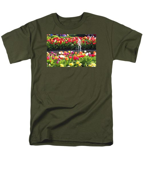 Tulip Festival Men's T-Shirt  (Regular Fit) by Bev Conover