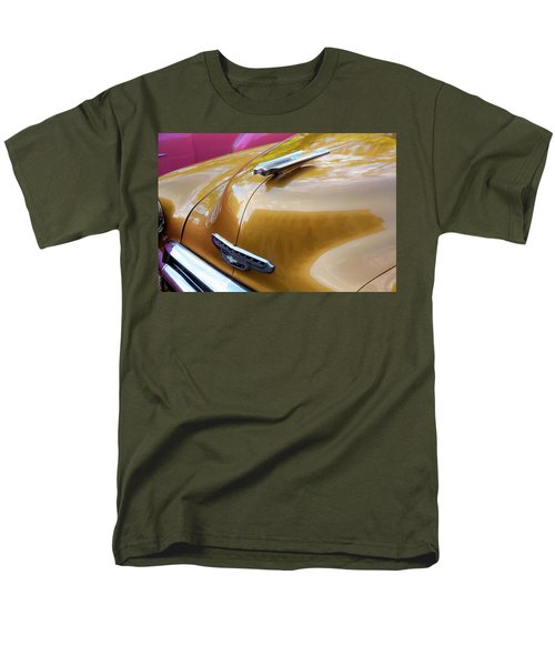 Men's T-Shirt  (Regular Fit) featuring the photograph Vintage Chevy Hood Ornament Havana Cuba by Charles Harden